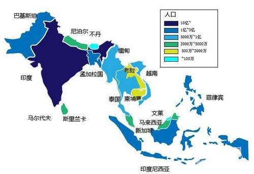东南亚国家_东南亚,南亚国家分布图
